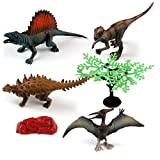 Gbell 6PC/ 8PC Simulated Dragon Model Set, Education Science Dinosaur Playset Toys Birthday Gifts for Boys 3-10 Year Old (Multicolor, 8 PC)