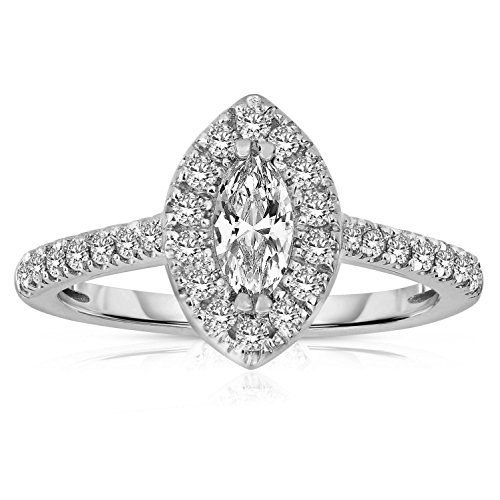 1/2 Ct Marquise Cut Ring - 2