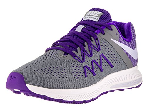 Nike Donna Zoom Winflo 3 Scarpa Da Corsa Cool Grey / Palest Purple / Fierce Purple