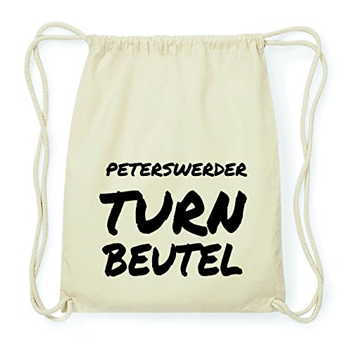 JOllify PETERSWERDER Hipster Turnbeutel Tasche Rucksack aus Baumwolle - Farbe: natur Design: Turnbeutel