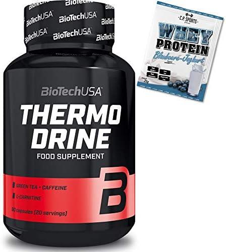 BioTech USA Thermo Drine - 60 Kapseln + Whey Protein 25g