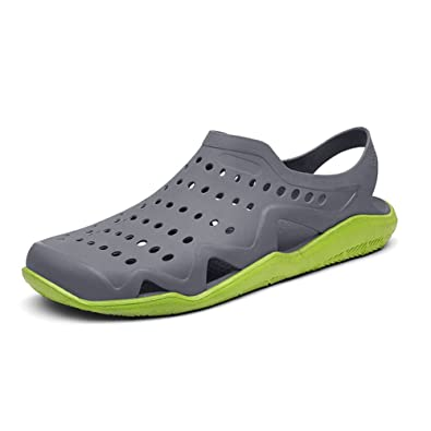 ea071e1f5d2149 Ceyue Men s Lightweight Clogs Quick Drying Sandal Slippers Summer Beach  Sport Shoes Casual Slip On Shoes for Garden Car Washing
