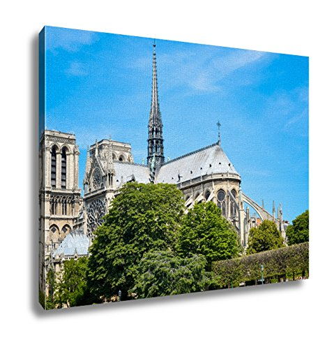 Ashley Canvas Beautiful View Notre Dame Cathedral In Paris France French For Our Lady Of Wall Art Decor Stretched Gallery Wrap Giclee Print Ready to Hang Kitchen living room home office, 24x30 by Ashley Canvas