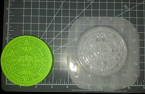 Aztec Art Plastic Mold, Bath Bomb Mold, Resin Mold, Aztec Mold, Mould, soap Mold, Wax Mold, Sun dial Mold, Calender Mold ()