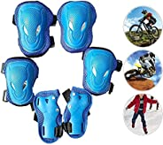 Child Sports Protective Gear,6Pcs Kids Protector Guards Cycling Skateboard Roller Skating Gear Elbow Wrist Pad