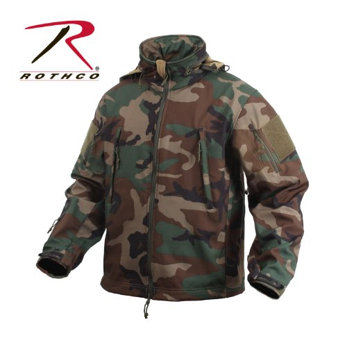 Rothco Special Ops Soft Shell chamarra, Woodland Camuflaje, XXXX-Grande
