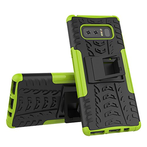 AOKER Galaxy Note 8 Case, Kickstand] [New] [Fashion] [Shockproof] [Impact Protection] Heavy Duty Dual Layer Hybrid Defender Protective Case with Kickstand Cover for Samsung Galaxy Note 8 (Green)
