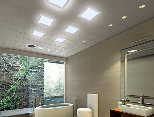 Rekabel 18W LED Square Panel Nature White Bright Light Nature White LED Recessed Ceiling Lights for Home Office Commercial Lighting(2 Pack) (3000) by Rekabel (Image #6)