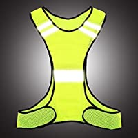 Reflective Vest for Walkers,Design for Night Running,Cycling,Dog Walker,Motorcycle, High Visibility Sports Gear Bike Reflector Vest with Pocket