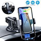 andobil Wireless Car Charger Mount, Auto Clamping Air Vent Dashboard Windshield Phone Holder Compatible iPhone 11/11 Pro/ 11 Pro Max /Xs Max/Xs/XR/X/8+/8, Samsung S10+/S10/S9+/S9/S8+/S8