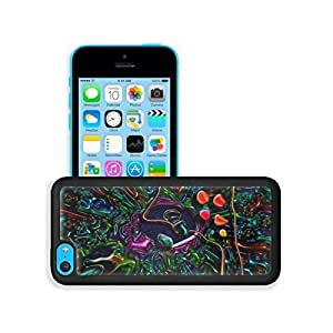 TYHde Abstract Multi Color Neon Pattern iPhone 5/5s Case Cover niuniu's case ending Kimberly Kurzendoerfer