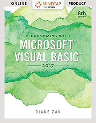 MindTap Programming for Zak's Programming with Microsoft Visual Basic 2017, 8th Edition