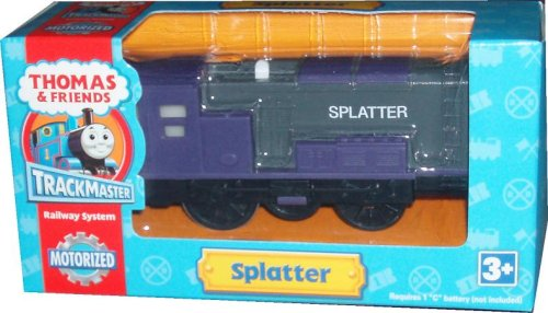 (Trackmaster Railway System - Thomas and Friends Motorized Road and Rail Battery Powered Tank Engine : Splatter the Purple Diesel Engine)