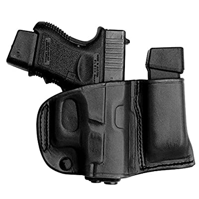 Tagua BSHM-330 Glock 26-27-33 Belt Slide Holster with Magazine Carrier, Black, Right Hand