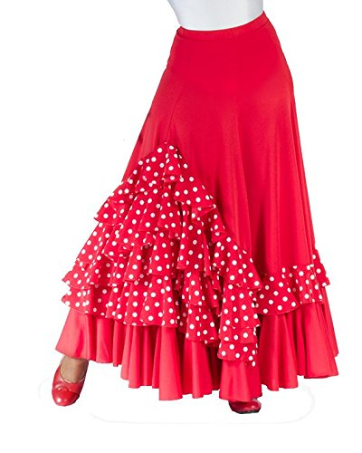 Falda de NIÑA para Baile Flamenco o sevillanas, Cinco Volantes en ...