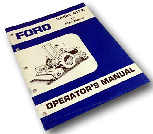 Mower Owners Manual - Ford Series 917A 48