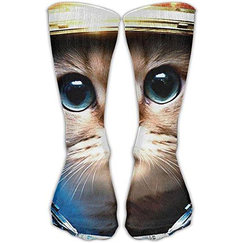 YUANSHAN Socks Cat Astronaut Women & Men Socks Soccer Sock Sport Tube Stockings Length 11.8Inch]()