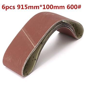 ILS - 6 piezas 915 mm * 100 mm allumina bandas de lija grano ...