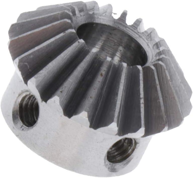 H HILABEE 1 Module Pignons Coniques en Laiton 5 /à 6,35mm Diam/ètre du Trou 20 Trou 5mm M4x2 Acier