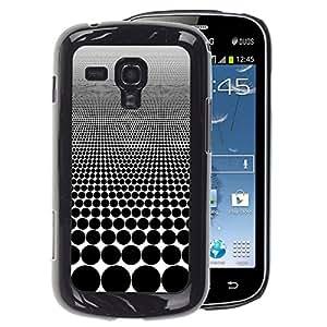A-type Arte & diseño plástico duro Fundas Cover Cubre Hard Case Cover para Samsung Galaxy S Duos S7562 (Optical Visual Illusion Pattern Black Spots)