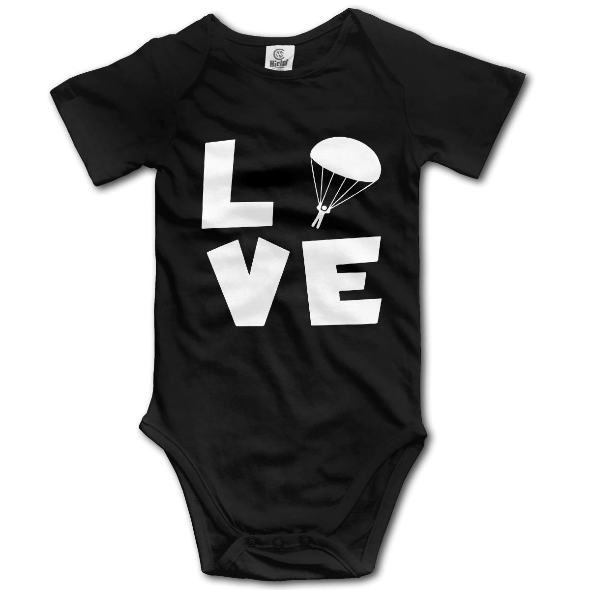 Toddler Skydiving Love Short Sleeve Climbing Clothes Playsuit Suit 6-24 Months