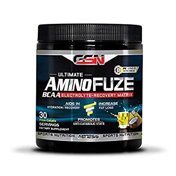 Ultimate AminoFuze BCAA Pina Colada by GSN 30 Scoop Container