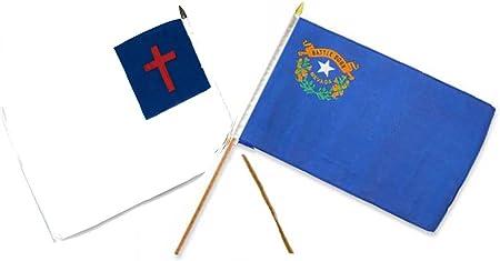 "12x18 12/""x18/"" State of Nevada Stick Flag 30/"" wood staff"