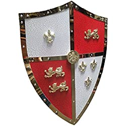 "Swordmaster - 24"" Medieval Royal Crusader Lion Shield Armor with Handle Brand New"
