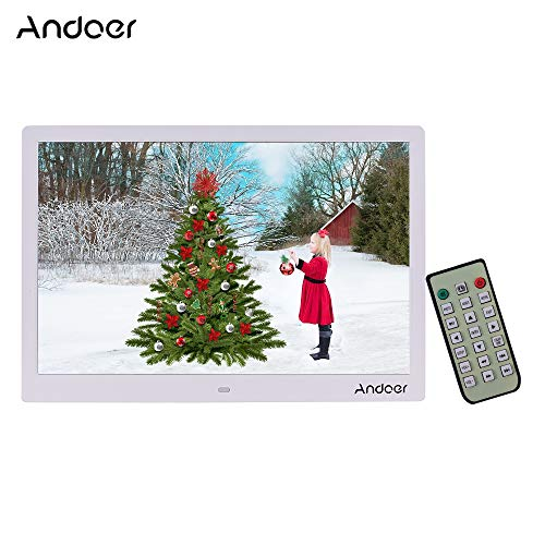 Leslaur Andoer 15.4 Inch 1280 800 Resolution LED Digital Picture Photo Frame Photo Album 1080P HD Video Playing with Remote Control Music Movie Clock Calendar E-Book Functions