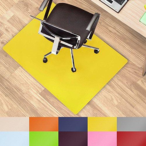 casa pura Office Chair Mat Hard Floor - 30'x48' | Desk Floor Mats, Yellow - BPA free, Odorless
