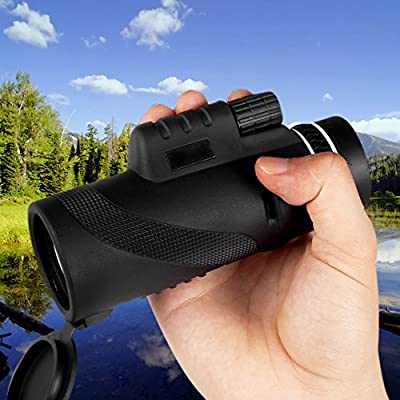 Pro Edition 10X42 HD Dual Close Focus Monocular Spotting Telescope High Power Optics, Low Night Vision, Tripod-Ready Optical Lens for Camping, Surveillance, Game Hunting
