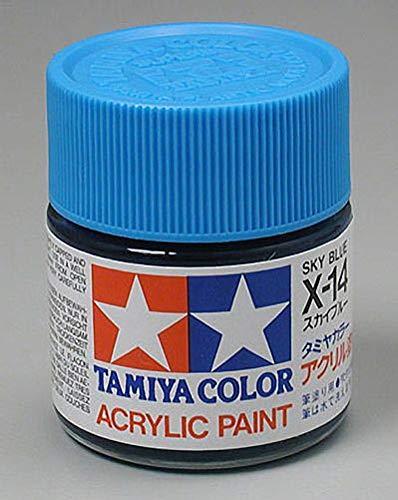 Tamiya America, Inc Acrylic X14 Gloss,Sky Blue, TAM81014