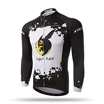 Pinjeer Cartoon Night Raid Pattern Printing Quick Dry Cycling Jersey  Clothing for Men Spring Autumn Breathable e97ed66ef