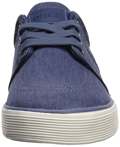 Polo Ralph Lauren Men's Faxon Low Sneaker Newport Navy Washed Twill very cheap for sale Gaost2h