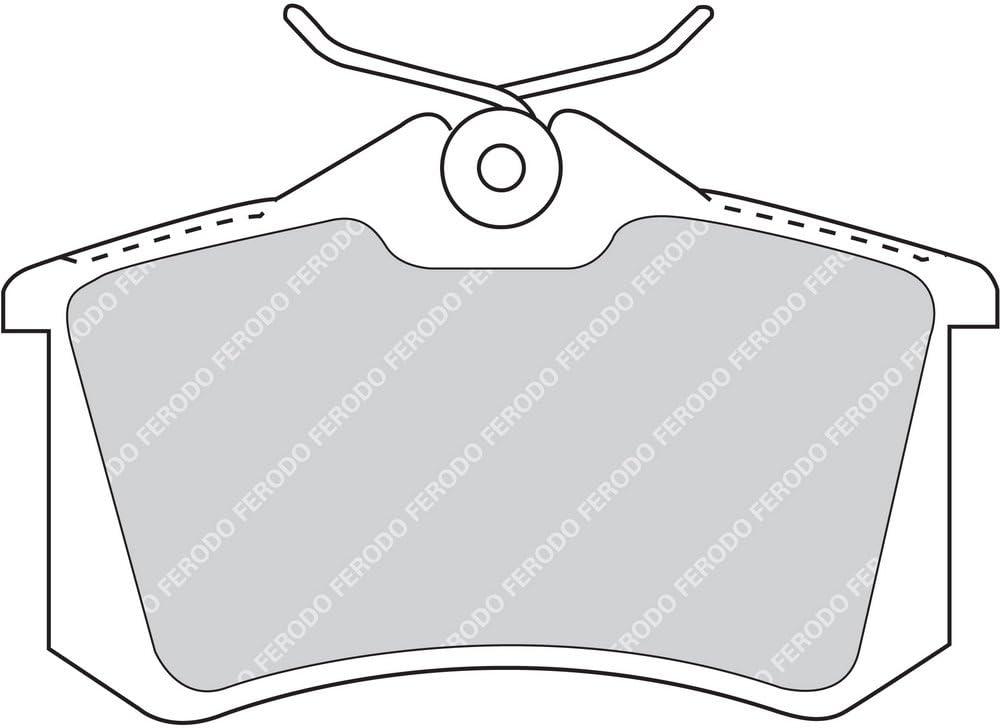 confezione 4 pezzi Premier Kit Pastiglie Freno Freno A Disco - Ferodo FDB4183