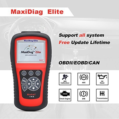 Diagnostic functions that can be performed with the MD802 Maxidiag include full OBDII scanning, reading and erasing codes, live data stream viewing, and 02 monitor testing