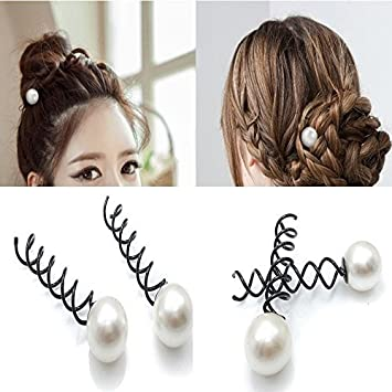 Hair Extensions & Wigs Women Pcs To Medium For Hair Pin Twist Accessories Fashion Clip Stylish Spin Spiral Hair 10pcs Great Set Black Long Clips