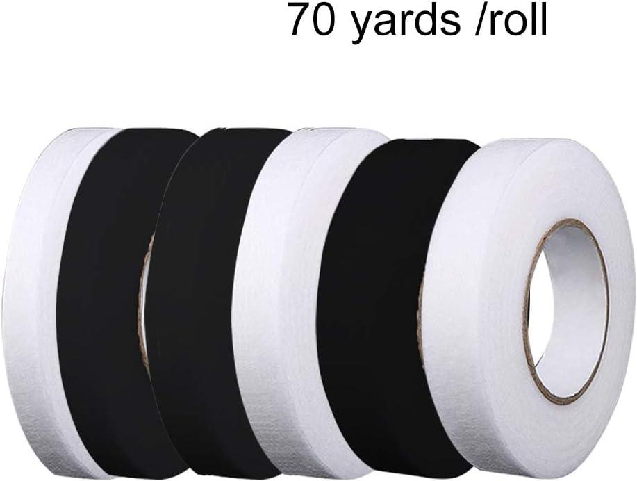 Hexerei doppelseitig kein N/ähen schwarz 70 Yard//Rolle zum Aufb/ügeln auf Stoff