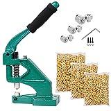 3-Die #0 #2 #4 Industrial Grommet Machine Banner & 900 Grommets Eyelet Hand Press Tool