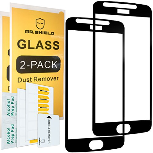 [2-PACK]-Mr Shield For Motorola Moto E4 / Moto E (4th Generation) [FullCover] Screen Protector with Lifetime Replacement Warranty