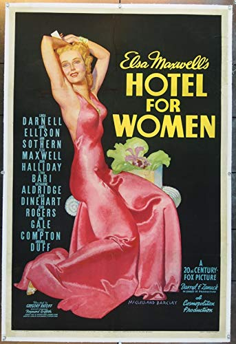 Hotel For Women (1939) Original U.S. One-Sheet Movie Poster 27x41 Linen Backed Very Fine Condition ANN SOTHERN LINDA DARNELL JAMES ELLISON Film Directed by GREGORY RATOFF