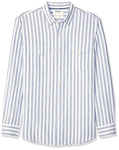 Amazon Brand - Goodthreads Men's Standard-Fit Long-Sleeve Linen and Cotton Blend Shirt