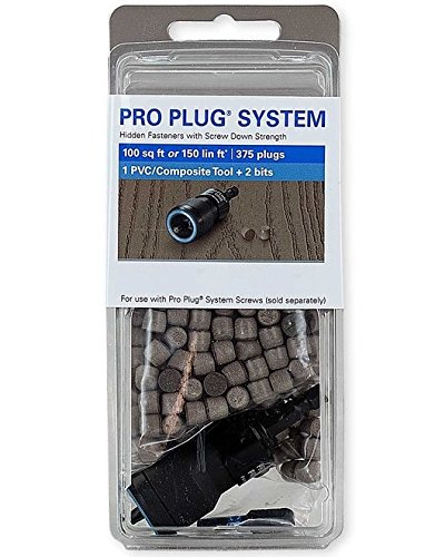 Pro Plug PVC Plugs and Pro Plug PVC Tool for Trex Winchester Grey, 375 Plugs for 100 sq ft, 1 Tool by Pro Plug