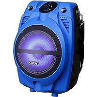 QFX PBX-710700BTL-BL Portable Bluetooth Party Speaker, Blue