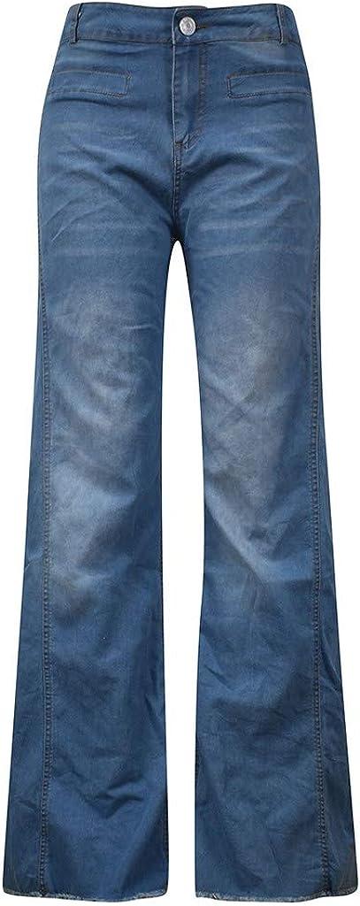 Mrtom Straight Vaqueros Mujer Campana Jeans Pantalones Acampanados Elasticos Cintura Alta Pantalones Anchos De La Pierna Pantalon Largos Denim Slim Fit Mujer Pantalones