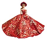 Barbie Strapless Christmas Holiday Gown with Hat