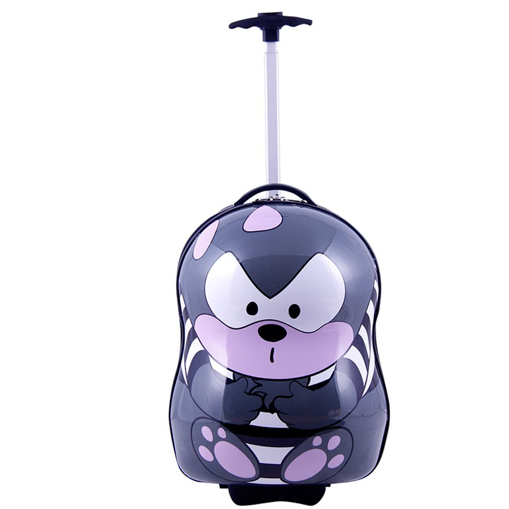 SMJM ABS Hard Side Cartoon Kids Luggage with Wheels for Girls and Boys