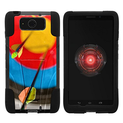 Motorola Droid Maxx Case | Droid Ultra Case | XT1080 [Gel Max] Two Layer Soft Silicone Hard Shell Case with Kickstand Sports and Games Design by TurtleArmor - Dart Arrows ()