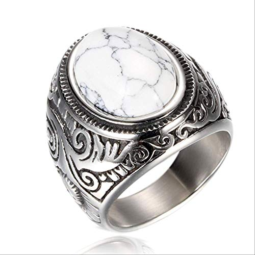 KRCC Ring Wholesale Retro jewelry titanium steel inlaid three colors onyx ring men domineering Opal ring 8