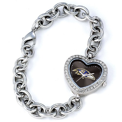 NFL Women's FH-BAL Heart Collection Baltimore Ravens Watch ()
